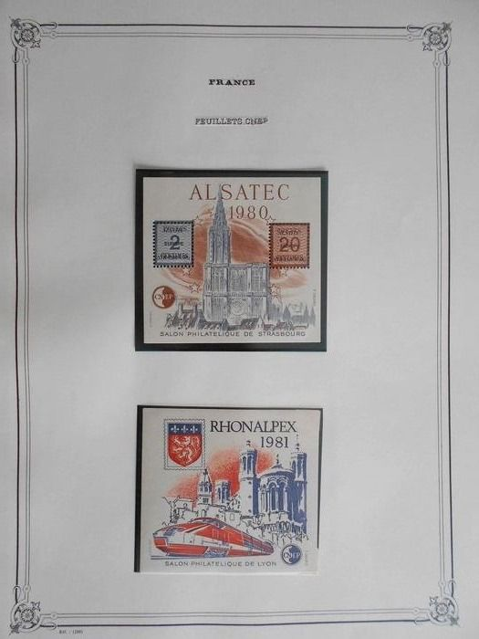 Francia 1980/1996 - A nice collection of CNEP booklets - Yvert Entre n°1 et 23