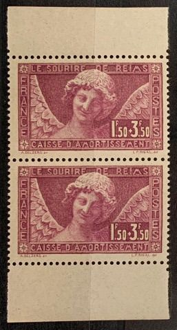 France - No. 256a, pair of booklets. VF. - Yvert 256a