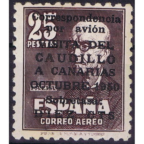 Spanien 1950 - 'Visita del Caudillo a Canarias' (Visit of Franco to the Canary Islands) (without number). Comex Edifil 1083