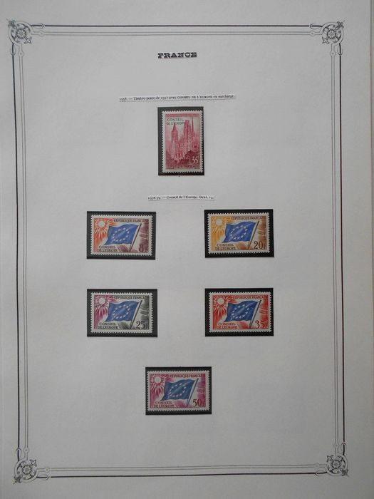 Frankrijk 1958/1996 - Small complete collection of official stamps: Council of Europe, UNESCO - Yvert Complet entre les n°16 et 117