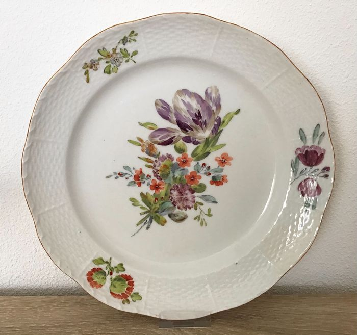 Imperial Porcelain Factory St Petersburg - Bord, van Caterine the Great service - Porselein