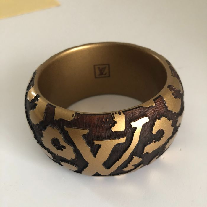 Louis Vuitton - bangle gold logo - Armband