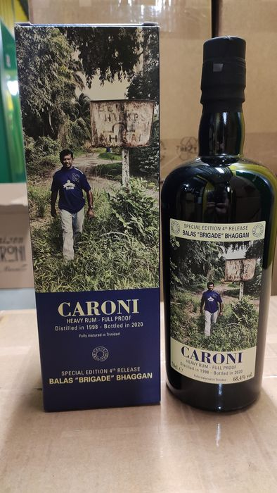 "Caroni 1998 Velier - Balas ""Brigade"" Bhaggan Employees 4th Release - b. 2020 - 70cl"