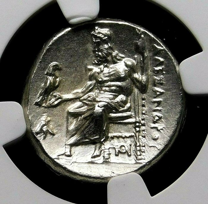 Re di Macedonia. Alessandro III (336-323 a.C.). Argento Drachm,  lifetime Issue Struck circa 324/3 BC. Sardes mint