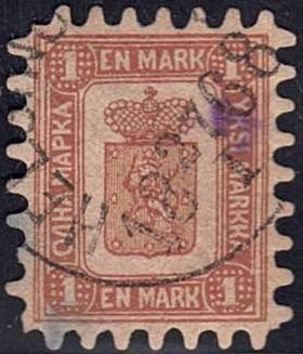 Finnland - Very rare stamp with lovely perforation - Yvert 10