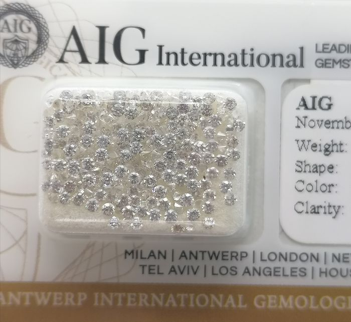 206 pcs Diamantes - 3.04 ct - Brillante - D (incoloro), E, F - ***no reserved price***vs1,vs2,si1,si2,i1
