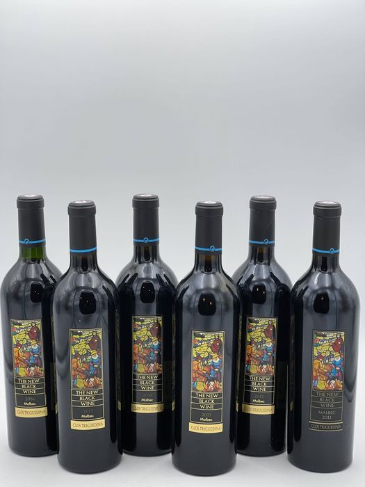 "Mixed vintage of Cahors - Clos Triguedina ""New Black Wine"" - Cahors - 6 Flessen (0.75 liter)"