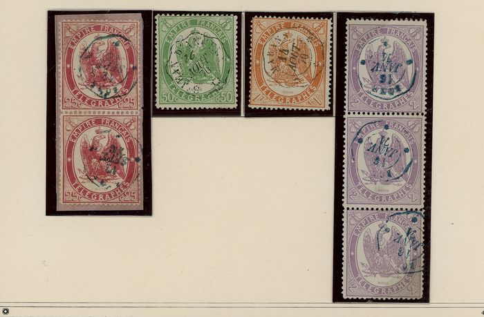 Francia 1868/1964 - Lot of Telegraph Stamps, Newspapers, Strike and FM with Varieties - Yvert