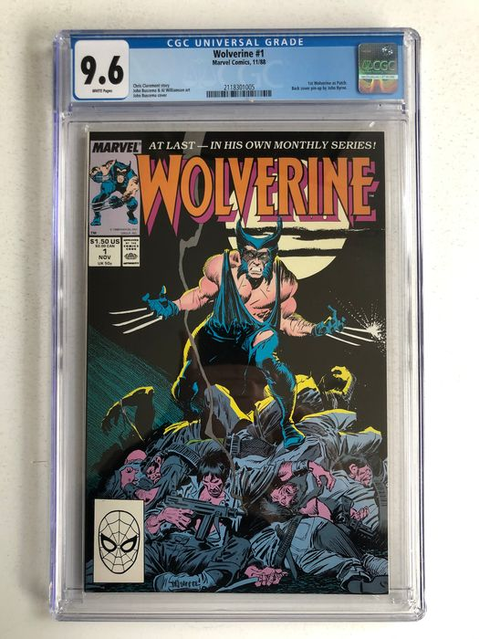 Wolverine #1 - 1st appearance Wolverine as Patch - 1st issue - CGC Graded 9.6 - Extremely High Grade - White Pages!! - Softcover - Erstausgabe - (1988)
