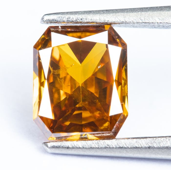 Diamant - 0.32 ct - Orange vif naturel - I1 *NO RESERVE*