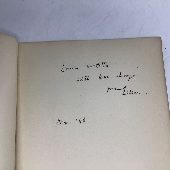 Lilian Bowes Lyon - Signed first editions: A Rough Walk Home and other poems; Evening in Stepney; Collected Poems - 1943/1946