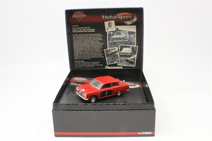 Preview of the first image of Corgi - 1:43 - Ford Cortina MkI GT #1 Scottish Rally 1965 - Limited Edition of 2,370 pcs. (Individu.