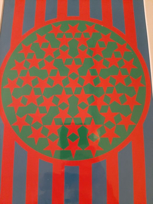 Robert Indiana (1928-2018) - New Glory Banner, from: Banners