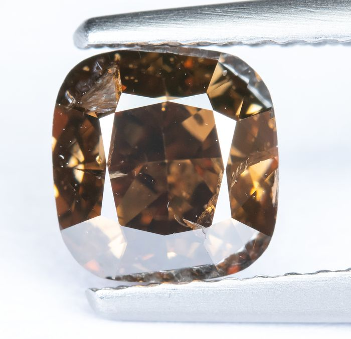 Diamant - 1.49 ct - Orange brunâtre foncé naturel - I1 *NO RESERVE*