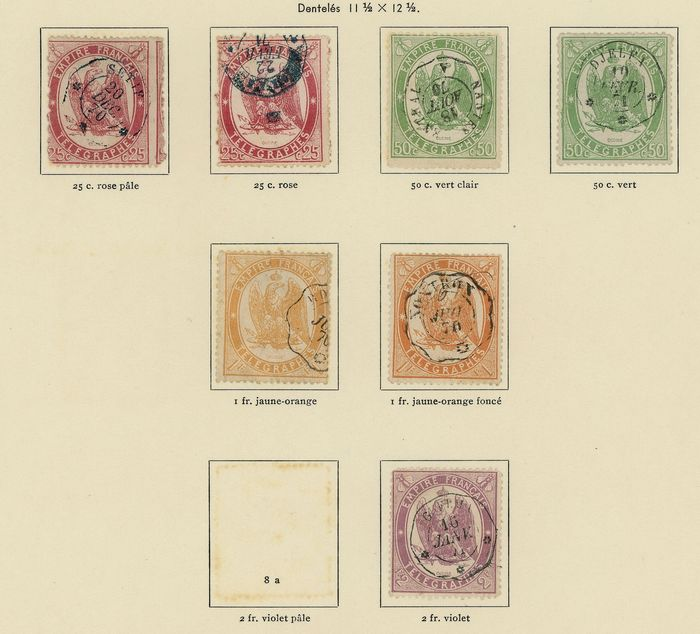 France 1868/1995 - Lot of Telegraph Stamps, Broadcasting, Strike, LVF and FM, a Grêve envelope from Corsica - Maury