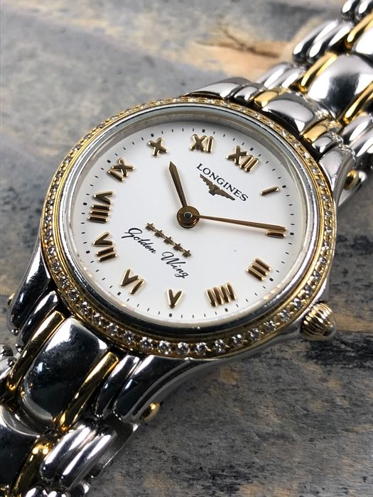 Longines - Golden Wing Diamonds Lady - L3.107.5 - Dames - 1990-1999