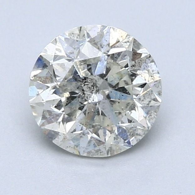 1 pcs Diamante - 1.55 ct - Redondo - E - SI3