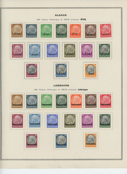 Francia 1901/1945 - Lot of Strike Stamps, Occupation, Liberation, FM and LVF with varieties - Yvert