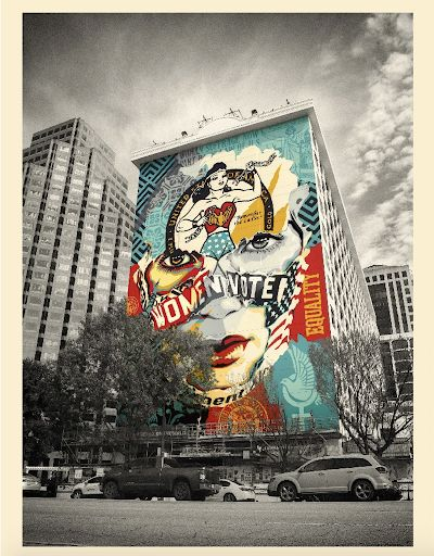 Preview of the first image of Shepard Fairey (OBEY) et Sandra Chevrier - The beauty of liberty and equality.