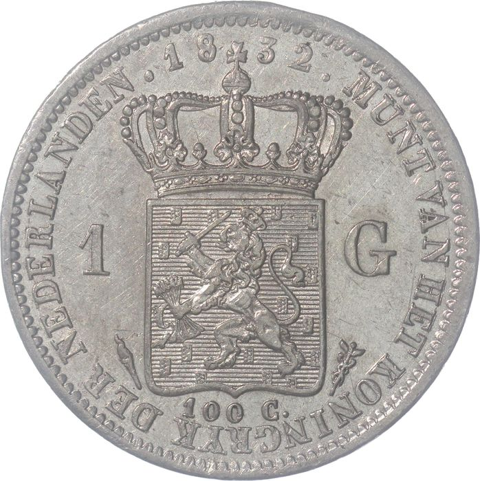 Netherlands. Willem I. 1 Gulden 1832