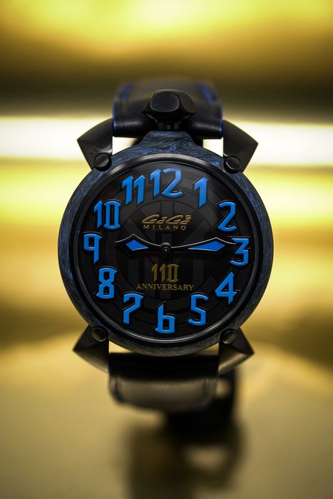 """GaGà Milano - Automatic 45MM Carbon Inter Milan Limited Edition - 6212.110 """"NO RESERVE PRICE"""" - Unisex - New"""