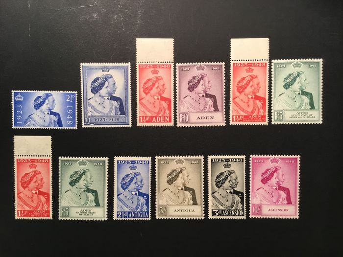 British Commonwealth 1948/1948 - Rounds of stamps all - Stanley Gibbons