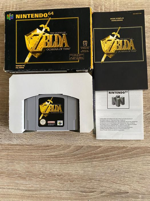 Nintendo - The legend of zelda ocarina of time nintendo 64 with box inlay and manual