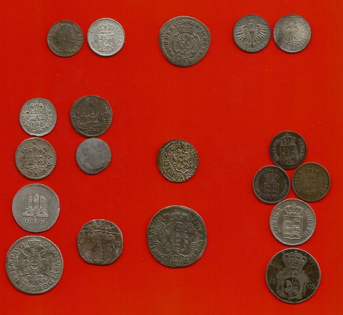 Germany. 19 Coins 1550-1873