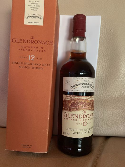 Glendronach 12 years old Matured in Sherry casks - Original bottling - b. Années 1980 - 75cl