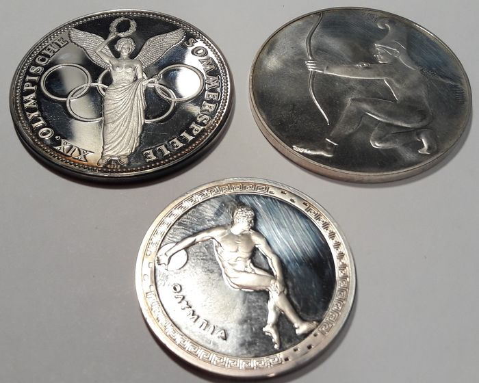 Germany, Mexico. 3 Various Medals