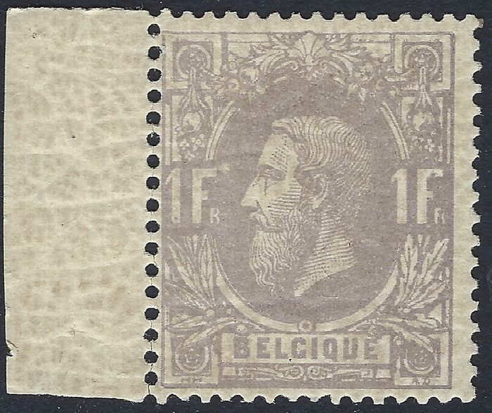 Belgium - COB no. 36A, thin paper - sheet margin, some detached teeth - Original gum degraded
