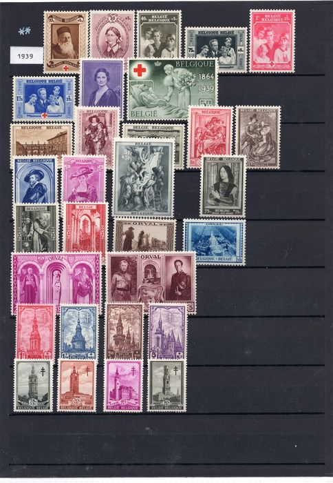 Belgium - Batch with all stamps from 1939 - OBP / COB