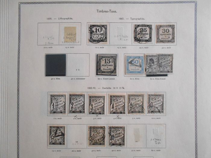 Frankreich 1863/1947 - Set of old tax and semi-modern stamps. Value: over 1300. - Yvert Entre les n°3 et 77