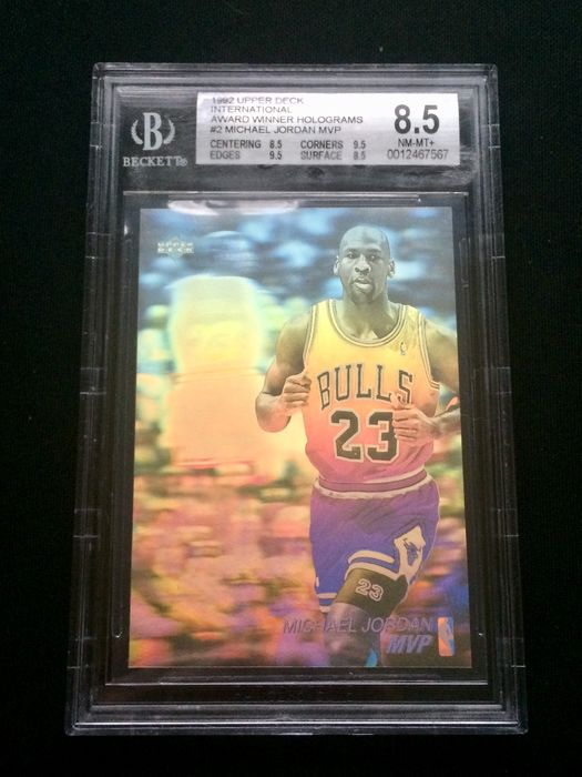 Upper Deck - Chicago Bulls - Michael Jordan - 1991 Award Hologram-kaart - BECKETT 8.5