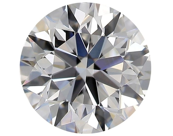 1 pcs Diamante - 0.80 ct - Redondo - D (incoloro), -----NO RESERVE PRICE---- - IF (Inmaculado)