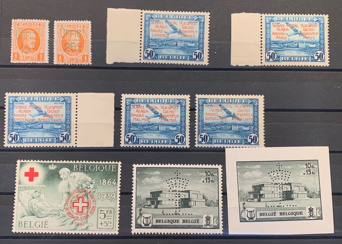 Belgien - Private issues: Extensive lot with many extras including curiosities, cards, FDCs,... PR