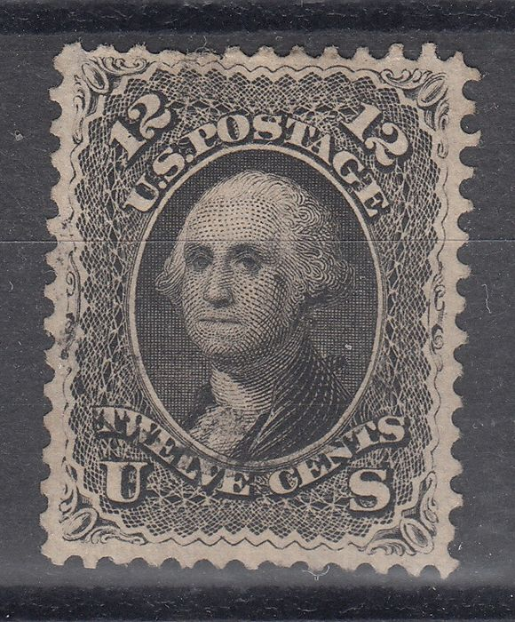 USA 1861 - 12 cents black mint with very good centring - Scott Nr. 69