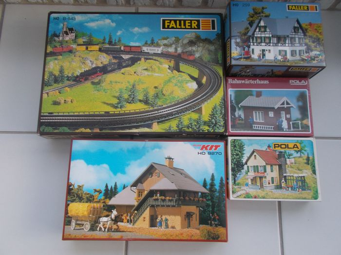 Faller, Pola H0 - B-543/259/9270 - Décor - 5 kits de construction