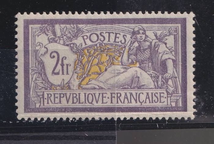 France 1900 - VF 2 francs Merson with perfect centring - Yvert 122