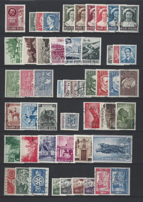 Belgium 1953/1956 - 4 complete years cancelled - OBP / COB 908/1007