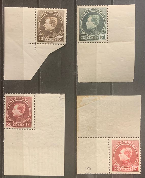 Belgien 1929 - Large Montenez MNH with sheet corners - OBP / COB 289-292