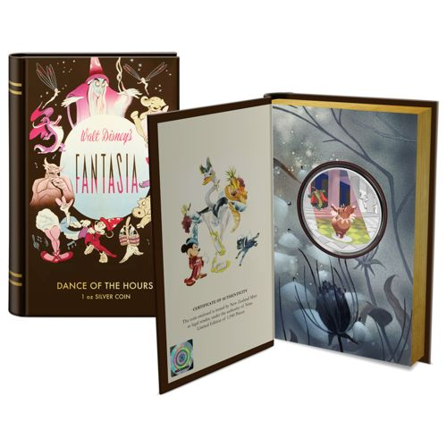 Niue. 2 Dollars 2020 Proof - Disney Fantasia 80th Anniversary — Dance of the Hours Colorized - 1 Oz