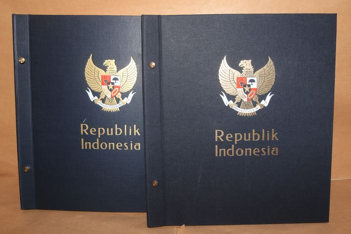 Indonesia 1949/1990 - Almost complete collection in two DAVO Standard pre-printed albums