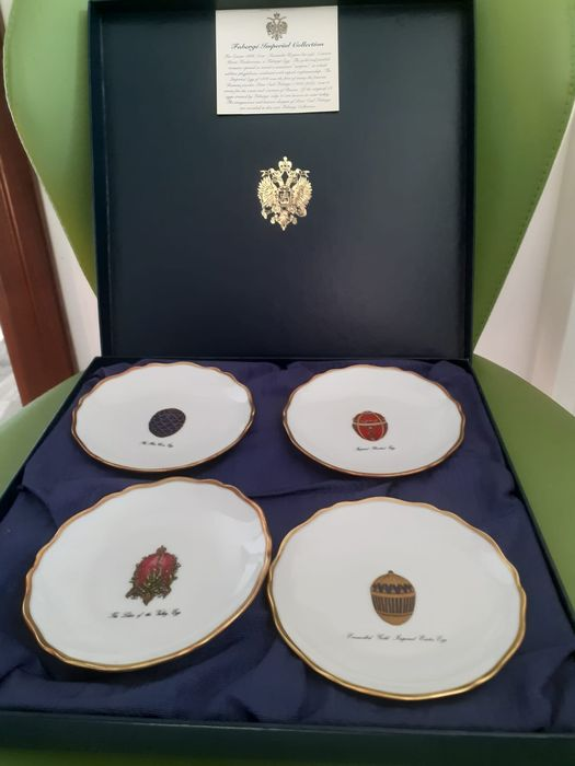 House of Faberge - Limoges - set of 4 plates with box and certificate - Porcellana