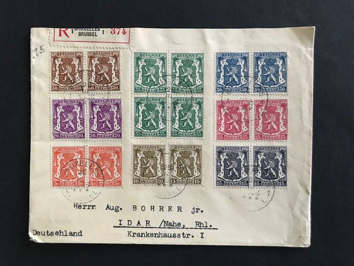 Belgien 1930/1950 - Lot of letters from 1930-1950 with complete series - Wonderful
