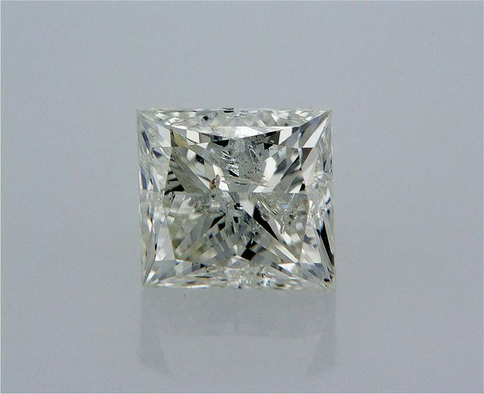 1 pcs Diamante - 0.90 ct - Princesa - G - SI3