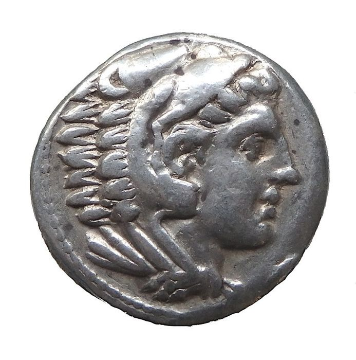 Kings of Macedonia. Kassander (regent, 317-305 BC, king, 305-298 BC). AR Tetradrachm,  In the name of Alexander, Postumus issue, c. 316-311 BC.  Amphipolis Mint