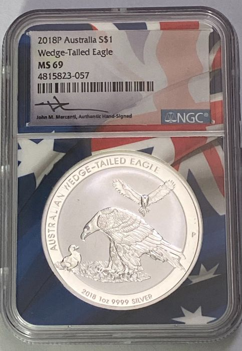 Australie. 1 Dollar 2018 - Wedge tailed eagle  MS69 - 1 Oz