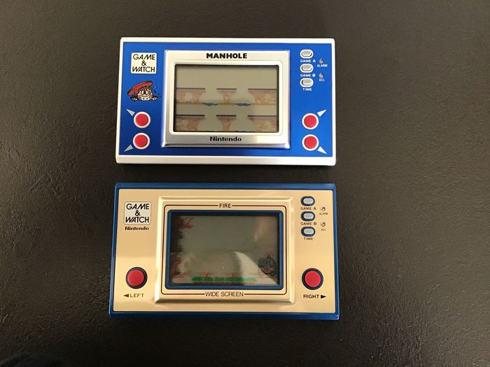 Nintendo Game & Watch - Wide Screen - Manhole + Fire - Jeu LCD - Dans la boîte d'origine