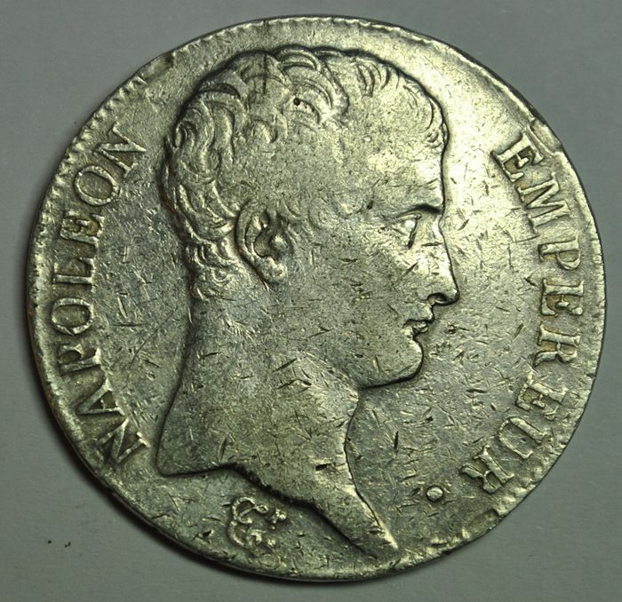 France. Napoléon I (1804-1814). 5 Francs An 13-M, Toulouse